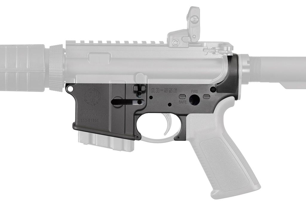 RUGER Lower Receiver AR-15 Platform Multi-Caliber Black