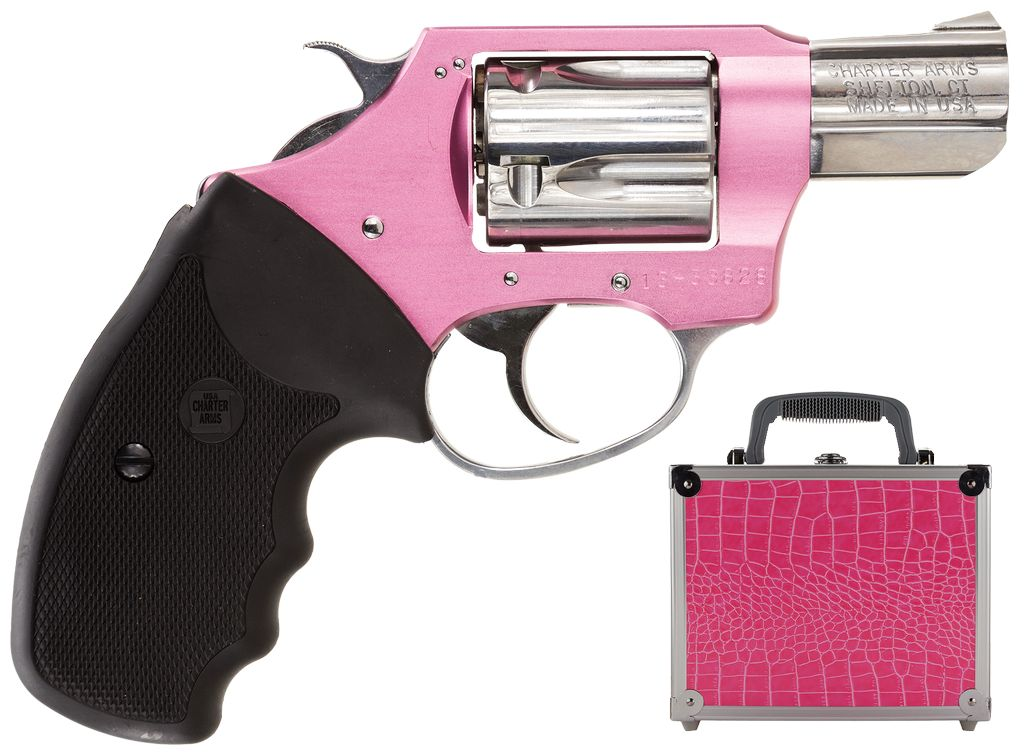"Charter Arms 38Spl 2"" 5rd Pink Alum/SS w/Pink Case"