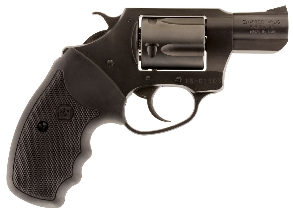 """Charter Arms Lite Single/Double 38 Special 2"""" 5 Blk Rubber Nitride"""