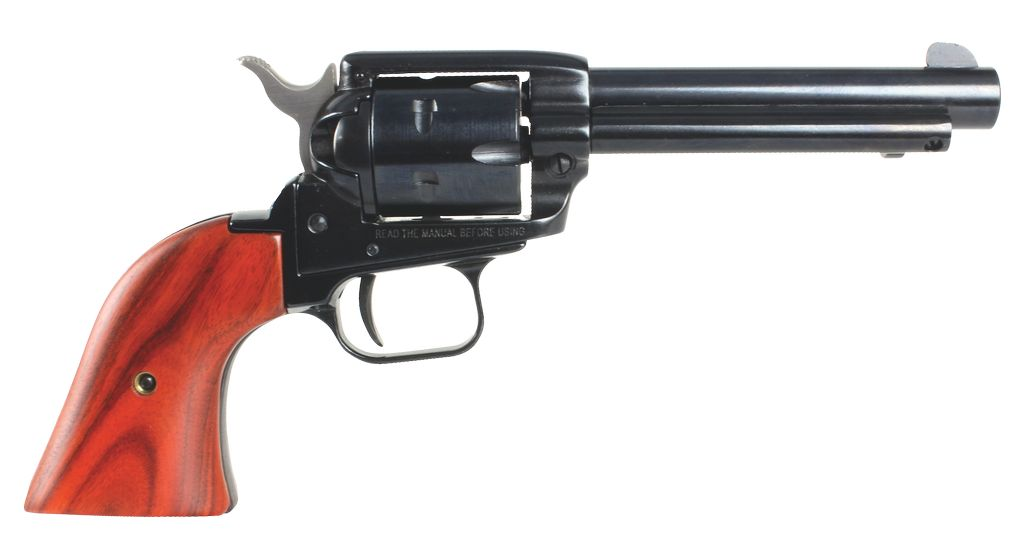 """Heritage Rough Rider 22LR 4.75"""" 6rd Cocobolo Wood Grip Blued Finish"""