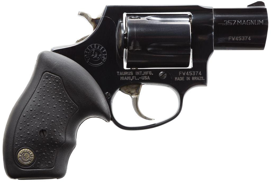"Taurus Standard 357 RemMag 2"" 5rd Fixed Sight Rubber Grip Blued"