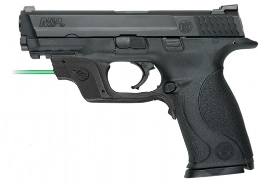 Smith & Wesson .40S&W Pistol With Green Crimson Trace Laser