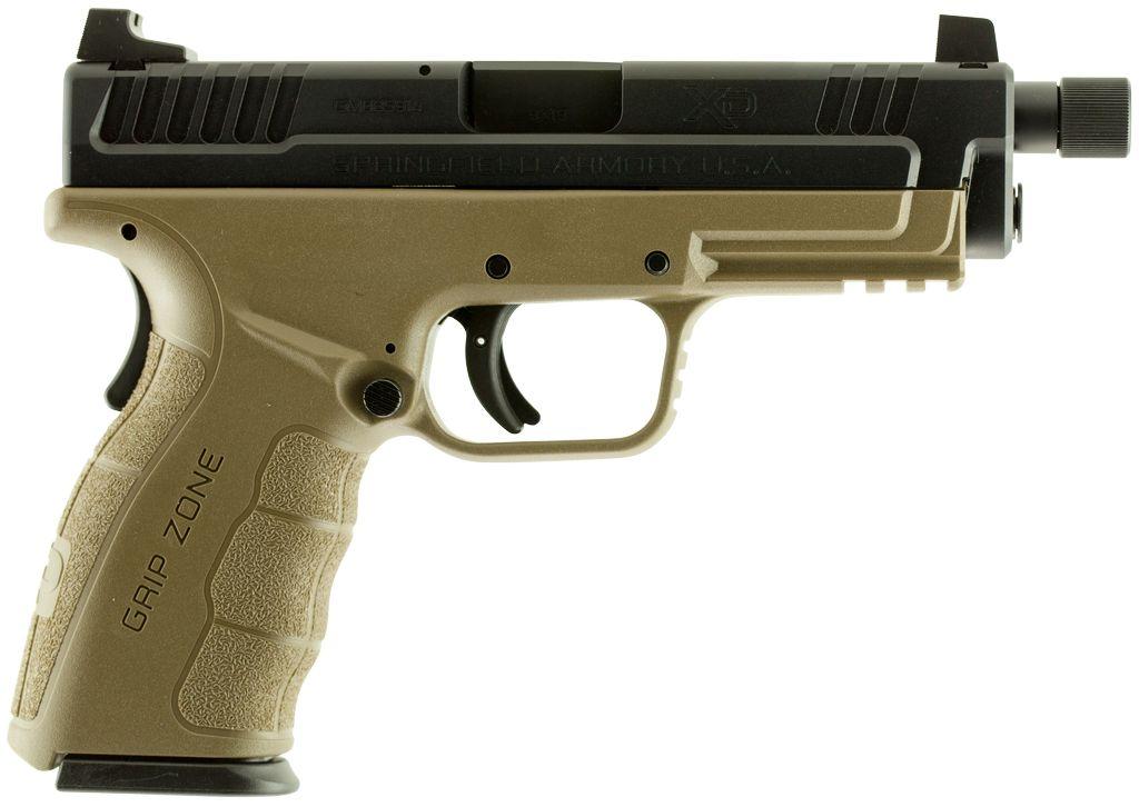 "Springfield XD MOD.2 Double 9mm 4"" 10+1 Flat Dark Earth Polymer Grip Black"