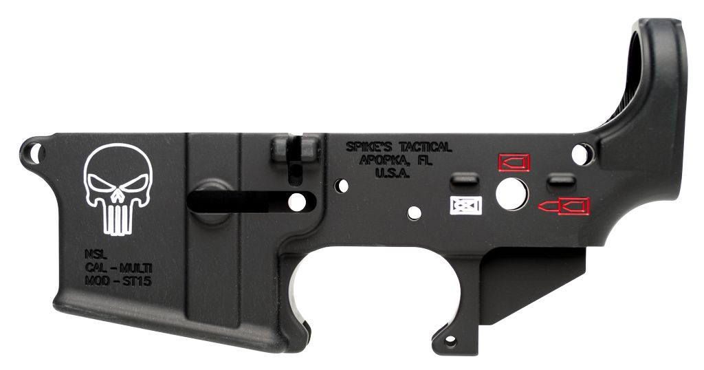 Spikes Tactical Lower Forged Punisher Multi-Caliber AR Platform Black