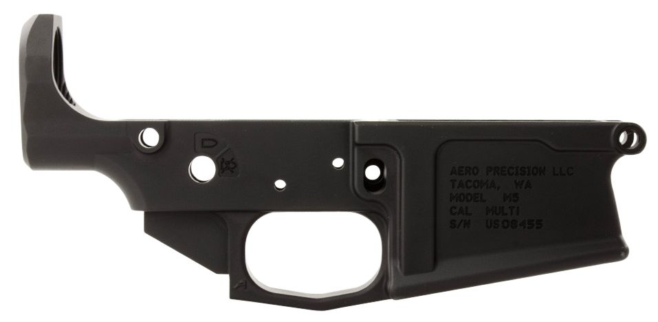 Aero Precision M5 308 Stripped Lower Receiver AR-15 AR Platform Multi-Caliber Black Hardcoat Anodized