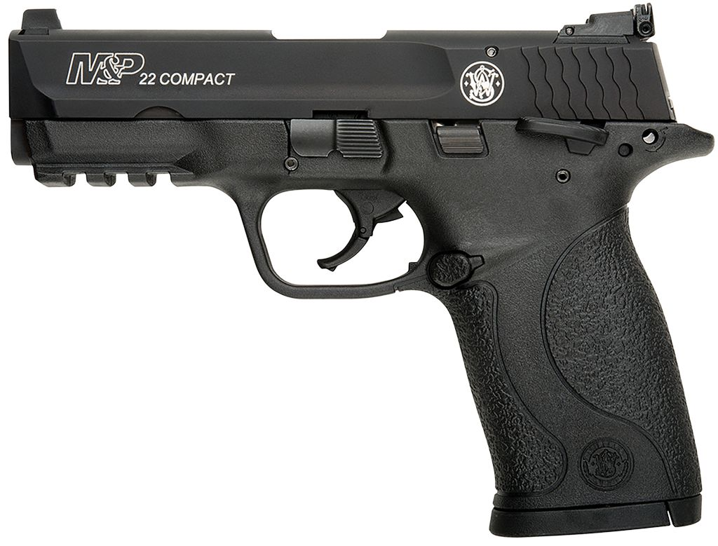 """Smith & Wesson M&P 22 Compact Single 22LR 3.6"""" 10+1 TB Blk Poly Grip"""