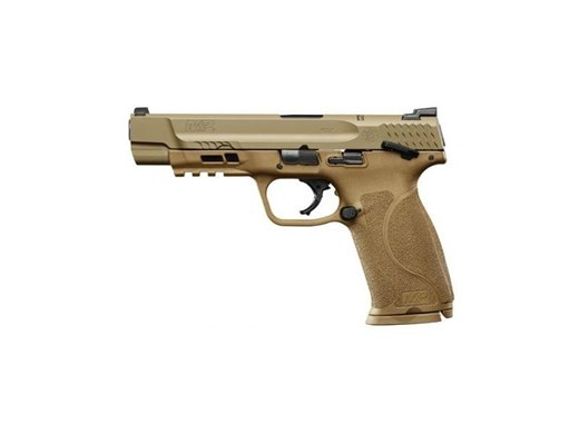"""Smith & Wesson M&P M2.0 Double 9mm 5"""" 17+1 Flat Dark Earth Interchangeable Backstrap Grip Stainless Steel"""