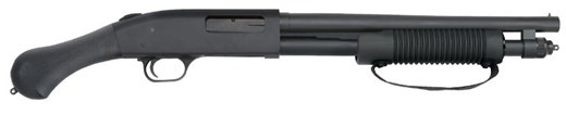 Mossberg SHOCKWAVE 20/14 3&quot; BL/SYN<br /> 26.37&quot; OVERALL LENGTH | 6 SHOT<br /> 20 Gauge