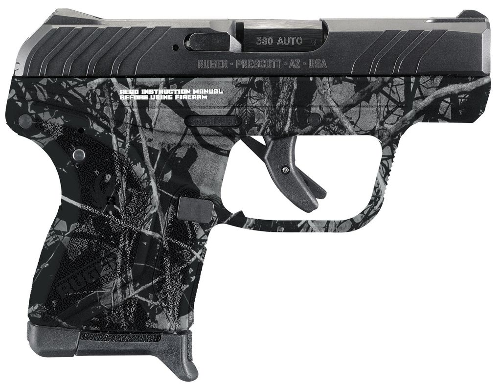 "RUGER LCP II Double 380 Automatic Colt Pistol (ACP) 2.75"" 6+1 Moon Shine Harvest Camo Polymer Grip Black"