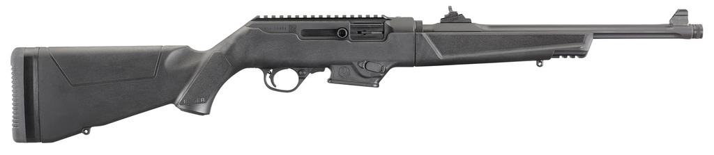 "RUGER PC Carbine Semi-Automatic 9mm Luger 16.12"" TB 17+1 Synthetic Black Stk Black Hard Coat Anodized"