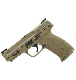 """Smith & Wesson M2.0 Double 9mm Luger 4.25"""" 17+1 Flat Dark Earth Interchangeable Backstrap Grip Flat Dark Earth Armornite Stainless Steel"""
