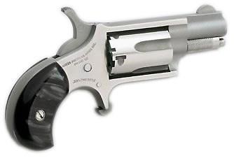 North American Arms MINI 22LR REV 1-1/8 SS BLK PRL