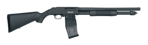 Mossberg MAG-FED 12/18.5 SYN 2.75&quot;<br /> 10+1|BEAD SIGHT|CYLINDER BORE<br /> 12 Gauge
