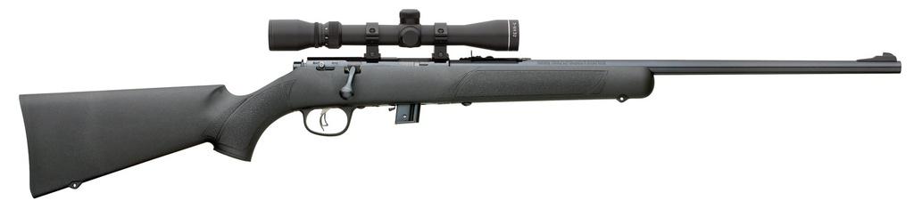 "Marlin Bolt 22 Long Rifle (LR) 22"" 7+1 Synthetic Black Stk Blued"