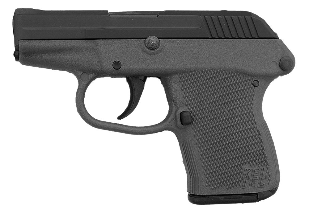 """Keltec 380 ACP Double 380 Automatic Colt Pistol (ACP) 2.7"""" 6+1 Gray Polymer Grip Black Parkerized"""