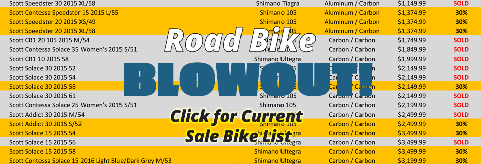 Road Bike Sale BLOWOUT!