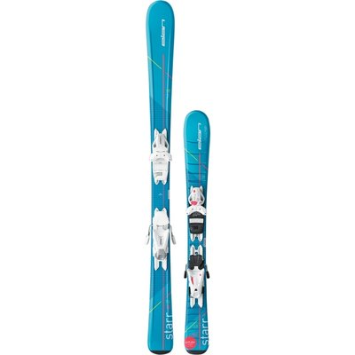 Elan Jr Starr QT Ski with EL 7.5 White Binding 2018