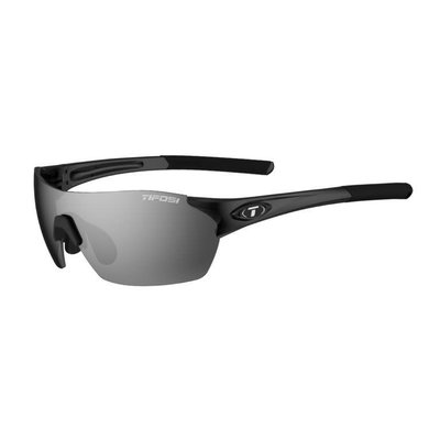 Tifosi Brixen Gloss Black Sunglasses w/Smoke-AC Red-Clear Lens