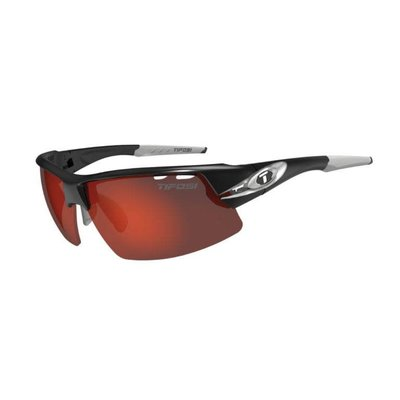 Tifosi Crit Race Silver Sunglasses w/Clarion Red-AC Red-Clear Lens
