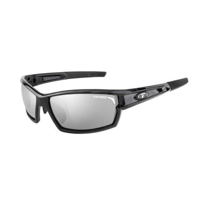 Tifosi CamRock Gloss Black Sunglasses w/Smoke-AC Red-Clear Lens