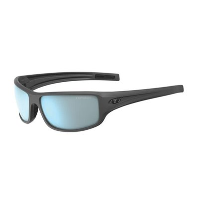 Tifosi Bronx Matte Gunmetal Sunglasses w/Smoke Bright Blue Lens