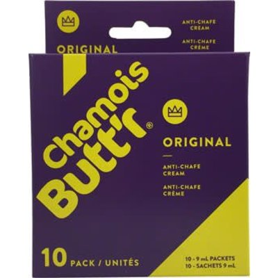 Chamois Butt'r Original: 0.3oz Packet, Box of 10