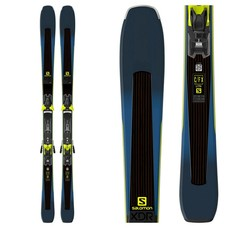 Salomon XDR 80 Ti Skis w/E Z 12 F80 Walk Yel/Blk Bindings 2019