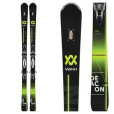 Volkl Deacon 76 Skis with rMotion2 12 Deacon Alu Blk/Sil Bindings 2019