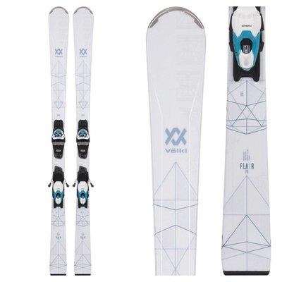 Volkl Women's Flair 76 Skis w/ vMotion10 GW Ldy Teal Bindings 2019