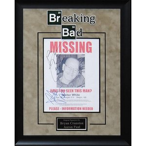 Breaking Bad – Cranston / Paul Signed MISSING poster