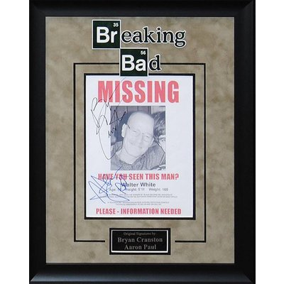Breaking Bad – Cranston / Paul Signed MISSING poster