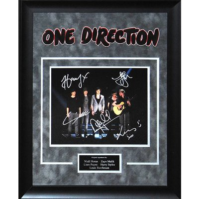 One Direction Band Signed Photounf.