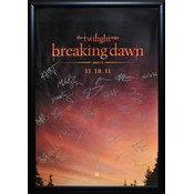 Twilight Breaking Dawn Part 1 – Cast Signed Poster