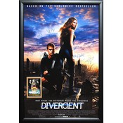 Divergent - Cast signed movie poster