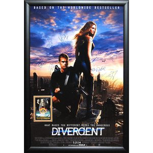 Divergent - Cast signed movie poster