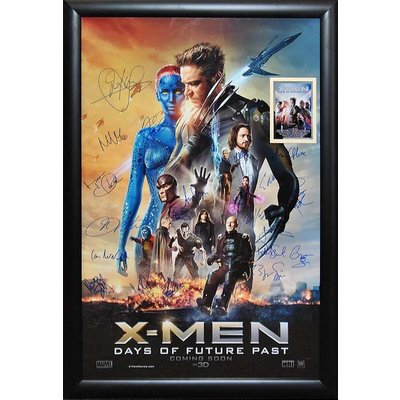 XMEN - Days of Future Past cast signed movie poster