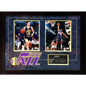 Utah Jazz - John Stockton, and Karl Malone 8x10 signed photos