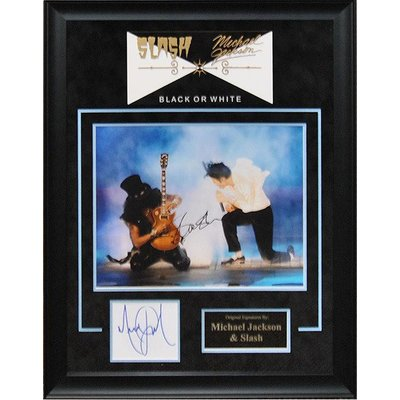 Slash and Michael Jackson - Signed 8x10 Photo