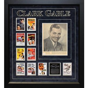 Clark Gable signed Photo