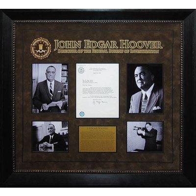 J. Edgar Hoover Signed Type - Written Letter