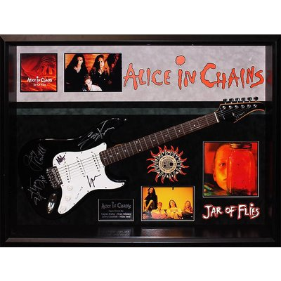 """""""Alice In Chains"""" Signed Silvertone guitar"""