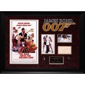 """""""James Bond: Man with The Golden Gun"""" Original Signature with Mini Poster"""