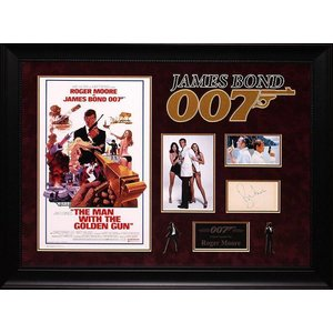 """James Bond: Man with The Golden Gun"" Original Signature with Mini Poster"