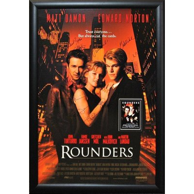 """""""Rounders"""" Cast signed poster"""