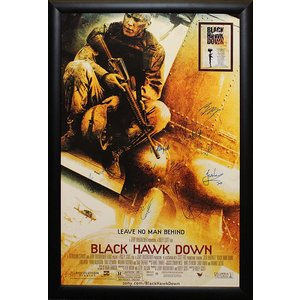 """Black Hawk Down"" Cast signed poster"