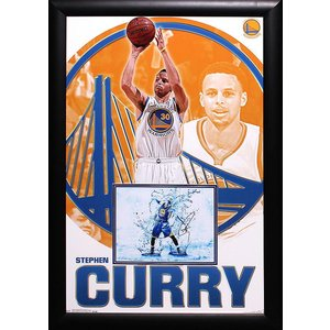 """Golden State Warriors"" Stephen Curry Signed 'Splash' 8x10 Photo With Poster"