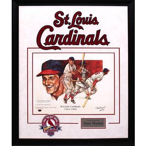 """St. Louis Cardinals"" Stan Musial Signed 14X18 Litho"