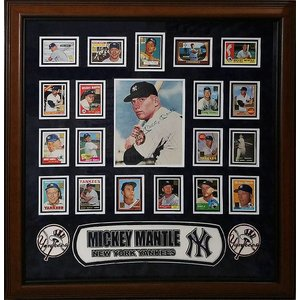 """New York Yankees"" Mickey Mantle Signed 8X10 w/card collage"