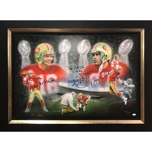 """San Francisco 49ers"" Joe Montana / Dwight Clark signed painting"