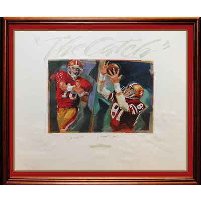 """""""San Francisco 49ers"""" Dwight Clark """"The Catch"""" Panorama collage"""